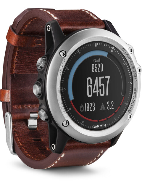 Garmin Fenix 3 Sapphire Leather Performer Bundle Silver